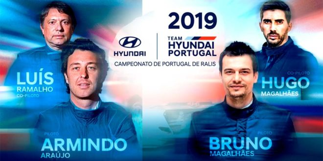 Armindo AraujoeBruno MagalhãesconfirmadosHyundai Portugal Motorsport.