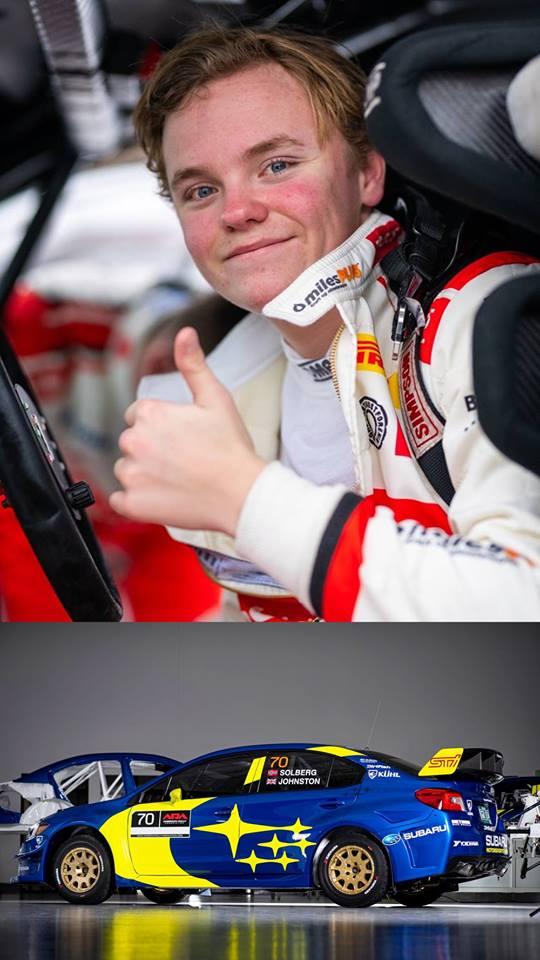 Solberg, piloto oficial da Subaru USA