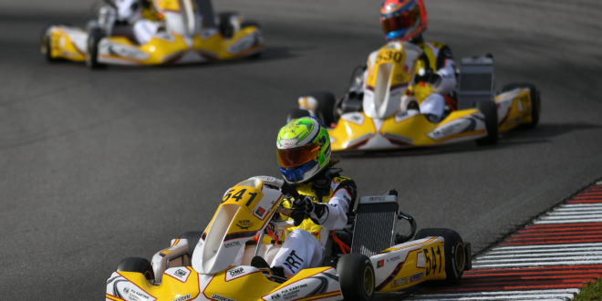 Pedro Perino não foi feliz na estreia no FIA Karting Academy Trophy