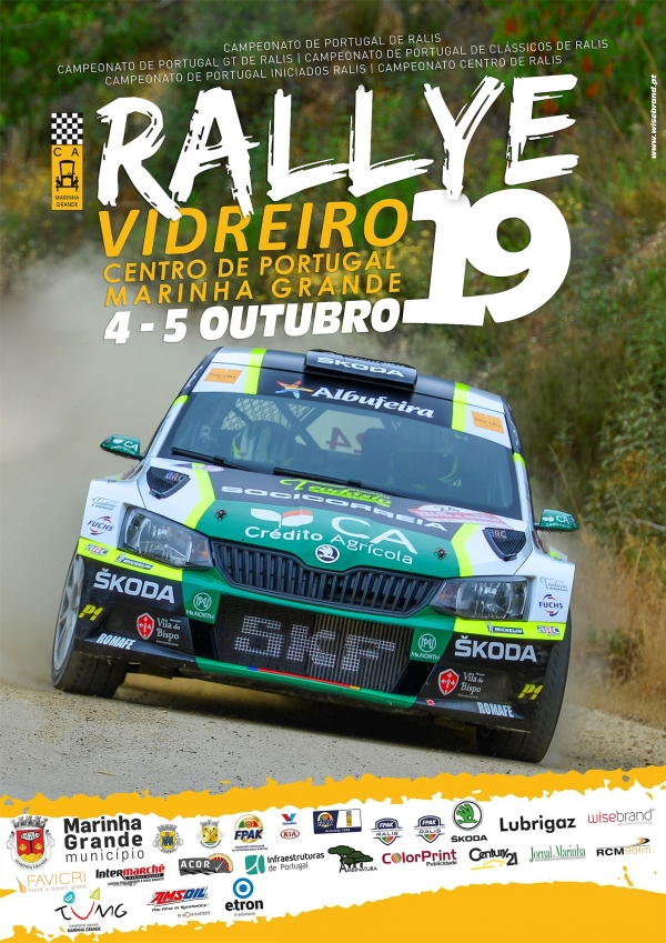 Rallye Vidreiro Centro de Portugal – Marinha Grande com 78 inscritos